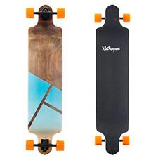Retrospec Tidal 41-inch Drop-Down Longboard Skateboard Complete 41-Inch; Geo