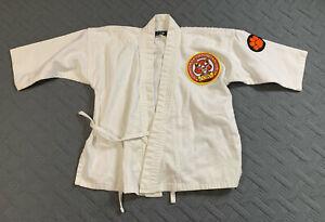 Macho Martial Arts White Tarkwondo Uniform Top Tie Waist Size 00/130