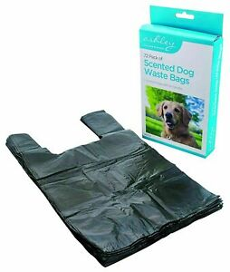 Dog Poo Bags 72 Waste Mess Disposal Bags With Tie Handles Scented