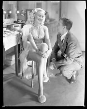 BETTY GRABLE Original Vintage 1945 8x10 Dressing Room Candid CHEESECAKE Negative