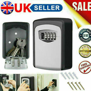 4 Digit Key Safe - Outdoor High Security Wall Mounted Box Storage Case Lock Code