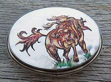 Mustang Horse Mother of Pearl Western Vintage Belt Buckle