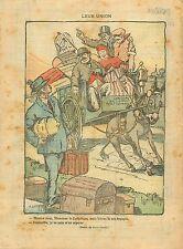 Caricature Politique Union Nationale Marianne Socialiste Âne 1919 ILLUSTRATION