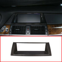 For BMW X5 E70 2008-2013 Carbon Fiber Style ABS Car GPS Navigation Frame Trim
