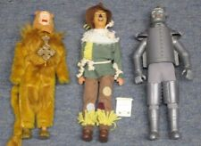 "Vintage Toy Time Wizard of Oz 12"" Dolls Cowardly Lion, Tin Man, Scarecrow"
