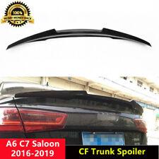 Carbon Fiber Trunk Spoiler Wing for Audi A6 C7 Saloon Non Sline 2012-15 CA Style
