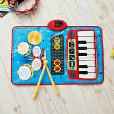 Global Gizmos 2-in-1 Musical Children's Play Mat Keyboard and Drum Kit
