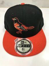 NWT New Era Kids Baltimore Orioles Black Orange Fitted Baseball Cap Hat 6 1/2