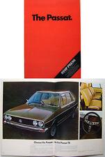 VW Volkswagen Passat Mk 1 L LS TS & Variant 1974-75 Original UK Sales Brochure