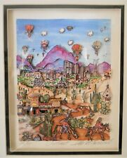 """Charles Fazzino """"Outwest"""" 3-D Artwork Signed & Numbered 190/475 Rare!"""