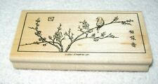 Stampin' Up! - Rubber Stamp - Bird in Cherry Blossom Tree Oriental Painting  -