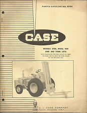 CASE MODELS 310B, M420, 430, AND 440 FORK LIFTS