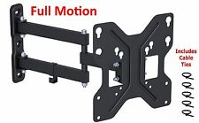 Full Motion TV Wall Mount Tilt Swivel LED LCD Bracket 26 28 32 36 38 40 42 Inch