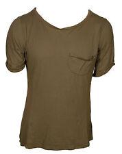 Happiness  Basics Maglietta  UomoT-shirt  Maglia Verde Scollo ampio V Taglia  XL