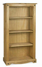 Mercers Furniture Corona Mexican Solid Pine Medium 3 Shelf Bookcase
