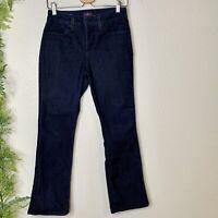 NYDJ Billie Mini Bootcut Jeans Dark Wash Stretch Denim Lift Tuck Petite Size 4P
