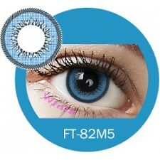 Lentille de couleur bleue 2 tons FT82M5 - blue color contact lenses