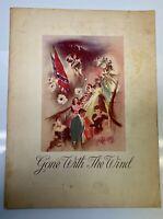 1939 Original GONE WITH THE WIND Souvenir Premiere Movie Program Booklet