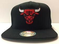 Chicago Bulls Mitchell & Ness NBA Snapback Hat XL Logo Day One Flexfit 110 Cap