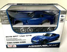 Maisto 1:24 2013 SRT VIPER GTS Diecast Assembly Line KIT Model Car New