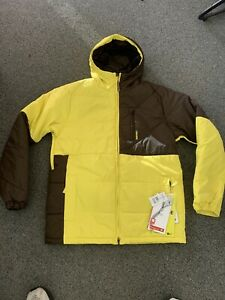 NEW Burton BM Shakedown JK Barrer Yellow Hooded Ski Snowboarding Jacket M