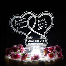 150 Favors PLUS Double Heart Lighted Wedding CakeTopper Acrylic Custom LED