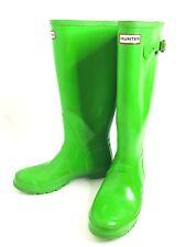 Hunter Womens Size 10 Original Tall Gloss Rain Gardening Boots Bright Green Rate