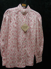 Vintage Western style blouse Victorian Frontier Pioneer Pink Floral sizes S-3X