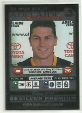 2001 AFL TEAMCOACH SILVER ADELAIDE CROWS MARK BICKLEY #129 CARD
