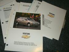 2004 CHEVROLET VENTURE DEALER ALBUM SALESMANS BROCHURE REFERENCE SHEETS SET