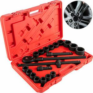 "21pcs socket set 3/4""Impact Deep Socket Set Extension Drive Bar 19-50mm"