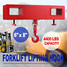 Forklift Lifting Hoist Swivel Hook 4400lbs High Tensile Fork Extensions Mounted