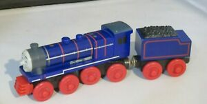 Genuine Thomas Friends Wooden Train Railroad - Hank & Tender - Learning Curve