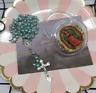 Rosenkranz Kette Maria Jesus Kreuz Anhänger Damen Herren Perlen türkis mit Box