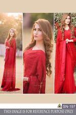 Rosy Red Ethnic Wedding Wear Indian Pakistani Saree Sari Bollywood Lehenga Choli