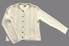 Women's Vintage 70's / 80's Cable Knit Cardigan Retro Boho Folk 10