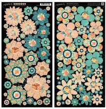 Graphic45 CAFE PARISIAN FLOWERS Cardstock Die-Cuts scrapbooking