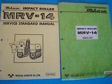 Mikasa Impact Roller MRV-14  Parts List 505-00302 & Service Standard Manual
