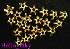 250pcs Antiqued gold plt Star spacer beads A663