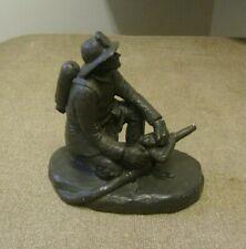 MICHAEL GARMAN Nozzleman #045 Bronzetone Sculpture Fireman Fire Fighter