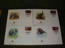 Uganda FDC 1983,WWF,Mi.nr.361 - 364,Elefanten !
