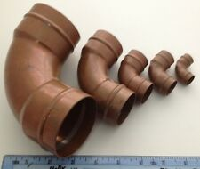 Collection Of 5 Various Size Copper Pipe Fittings Bends For Display