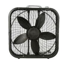 "Lasko 20"" Box Fan 3-Speed Black Portable Air Breeze Cooling Comfort Circulation"