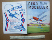 "Vintage WW2 Home Front Aeromodeller Magazine Oct 1941 Minerva 36"" Span Bi-Plane"