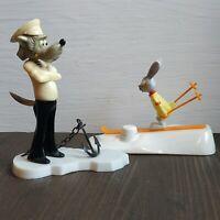Ну, Погоди! Vintage Soviet USSR toys Wolf & Hare skiing Nu, Pogodi! 1970s