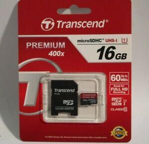 Brand New Transcend 16GB microSDHC UHS-I Flash