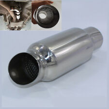 "Stainless 2.5"" Car Exhaust Silencer Downpipe Muffler Mid Link Pipe Weld On Tube"
