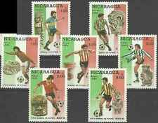 Timbres Sports Football Nicaragua 1402/3 PA1126/30 ** lot 16880