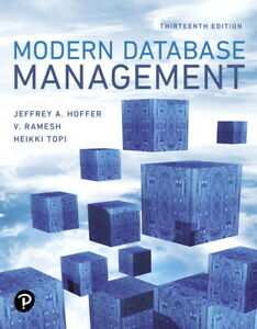 Modern Database Management 13E Global Edition