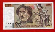 (BNF 156 )100 FRANCS DELACROIX 1990 SÉRIE K 188 (SUP) RECHERCHÉ RARE